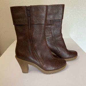 Aerosoles ruf n tumble brown leather boots 5.5